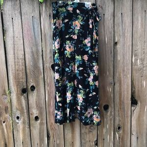 Black and floral skirt